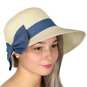 Large bow sun hat
